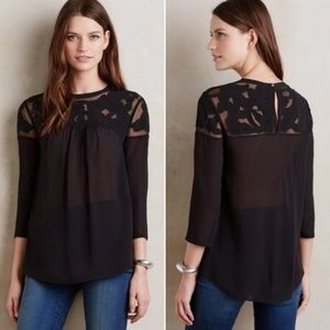ANTHROPOLOGIE Vanessa Virginia Lofty Lace Blouse